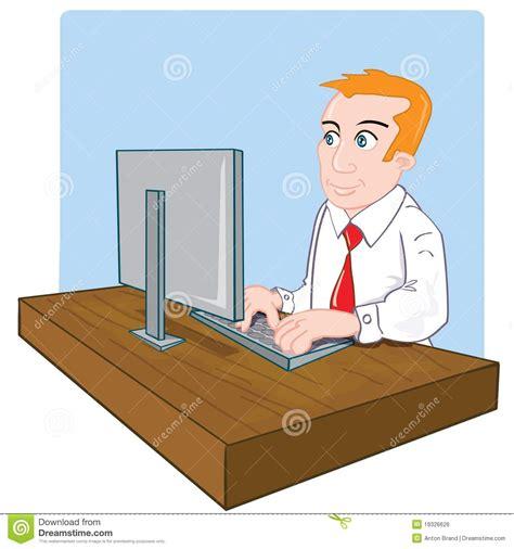 bureau de dessin employé de bureau de dessin animé à bureau image libre