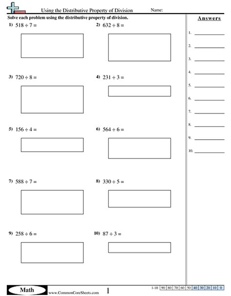 properties worksheets free commoncoresheets