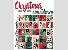 Christmas Countdown Printable A Mom's Take