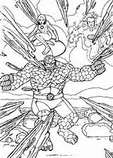 Coloring Fantastic Four Pages Danger Sharp Printable Super Books Info Hellokids Heroes Coloriage Thing sketch template