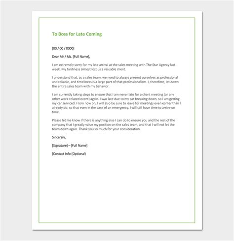 apology letter  boss  samples blank formats