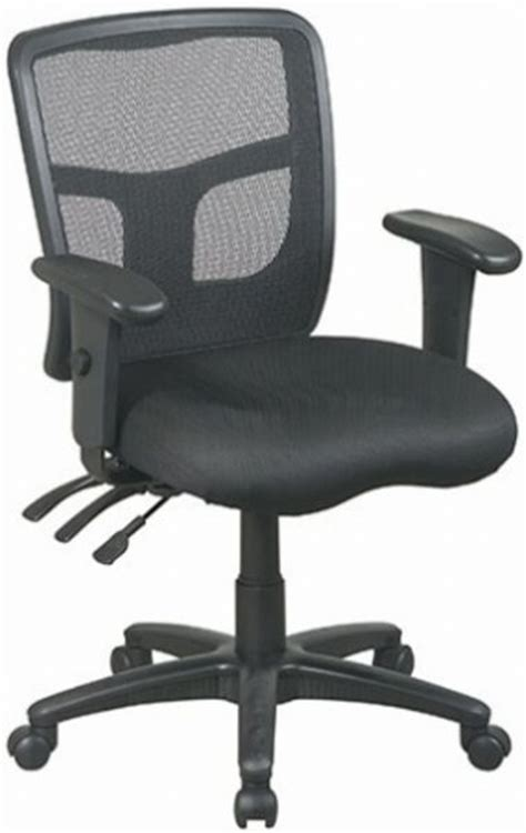 office 92343 black progrid back managers chair seat