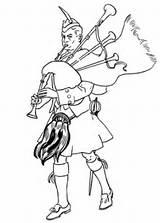 Colouring Scottish Coloring Bagpiper Scotland Printable Colorare Ausmalbilder Schottischer Piper Disegni Diferencias Ausmalbild Cartoon Ness Dudelsackspieler Schottland Cornamusa Disegno Scozzese sketch template