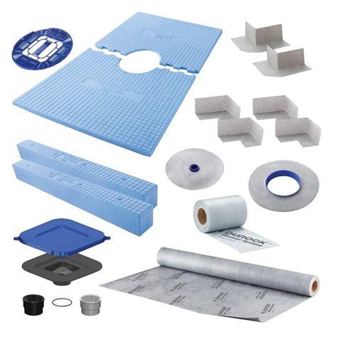 durock tile membrane kit schluter kerdi shower 32 in x 60 in shower kit in pvc