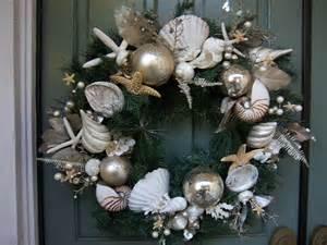 Christmas Wreath with Seashells