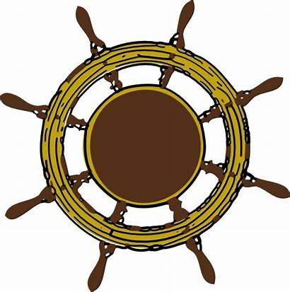Wheel Steering Ship Clip Vector Svg Drawing