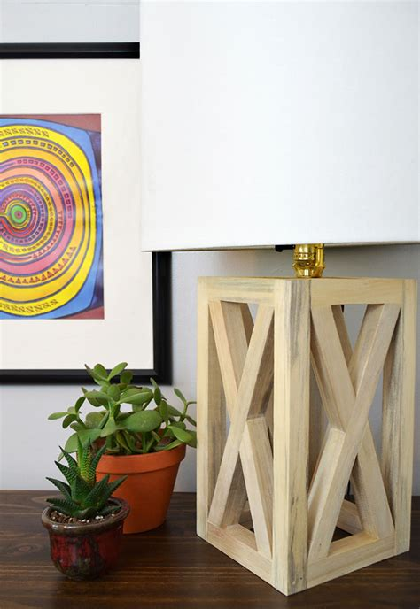 diy l shade simple and chic wooden table l diy