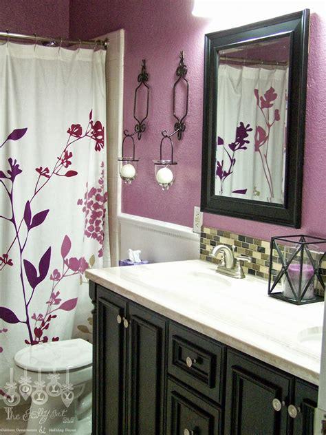 jolly fat elf  purple guest bathroom