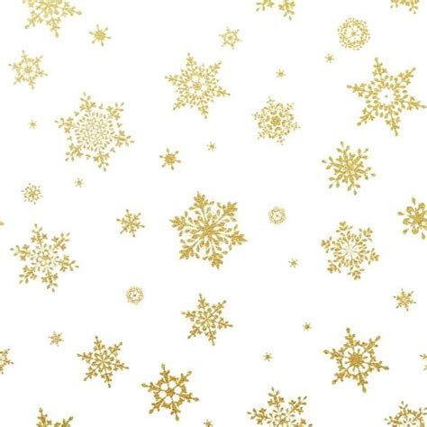 gold snowflakes seamless pattern with white backgrounds
