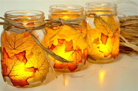 creative diy craft projects  fall leaves