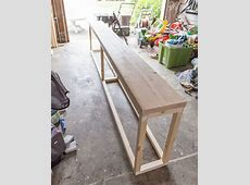Best 25+ Diy sofa table ideas on Pinterest Behind couch