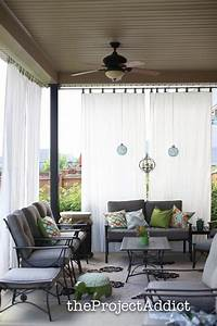 79 best mudroom images on pinterest decks cottage and for Outdoor balcony curtains