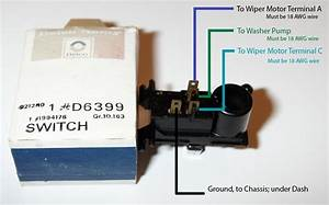 Recessed Wiper Wiring  Motor  Switch  And Pump