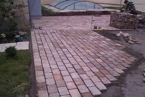 terrasse pave et bois max min With terrasse bois et pave