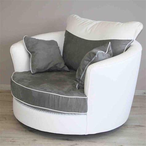 pot pour ustensile de cuisine fauteuil pivotant en pvc blanc et nubuk gris swievel dya