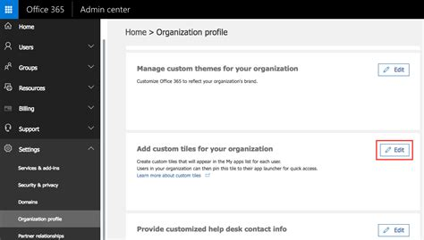 Office 365 Portal Url by 4 Click Add A Custom Tile