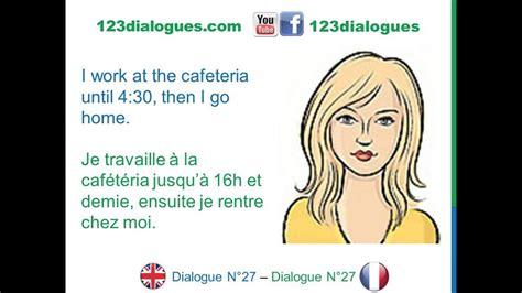 dialogue  english french anglais francais daily