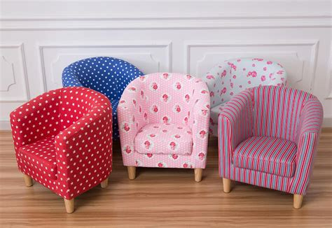 Kids Children's Tub Chair Armchair Sofa Seat Stool Fabric
