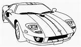 Coloring Cars Race Racing Printable sketch template