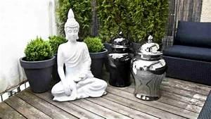 pouf luminoso abbagliante comodita dalani e ora westwing With französischer balkon mit buddha statue im garten