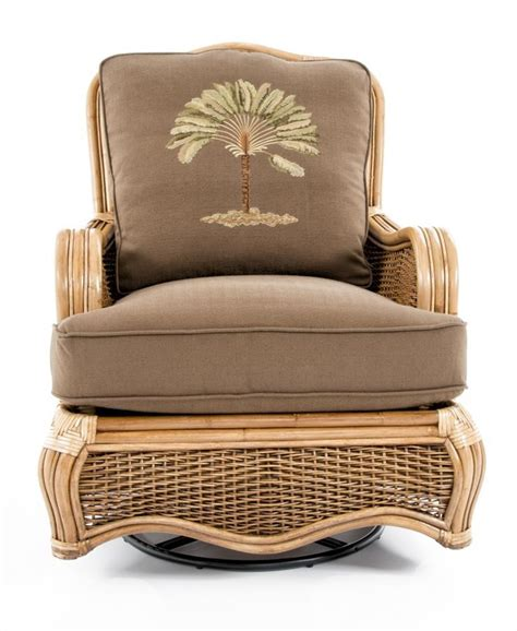 Braxton Culler Furniture Replacement Cushions by Braxton Culler Shorewood Tropical Swivel Glider W Rattan