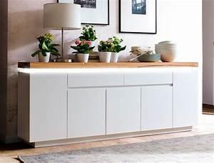 Sideboard Weiß 200 Cm : sideboard rosita 200x81x40 cm wei asteiche led beleuchtung anrichte wohnbereiche wohnzimmer ~ Markanthonyermac.com Haus und Dekorationen