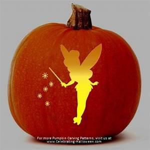 Tinkerbell Fairy Stencil  U2013 Free Pumpkin Carving Stencil