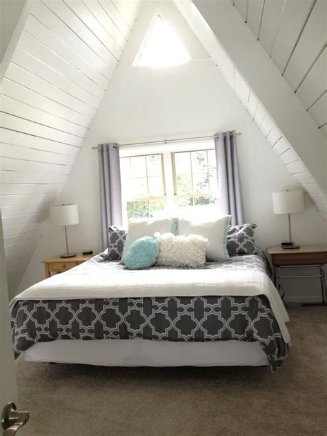 All White Lake House by Gray White And Sea Blue Master Bedroom In An All White A