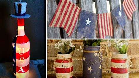 Home Decor For 4th Of July : 16 Amazing Handmade 4th Of July Decorations For Last