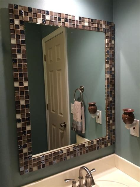 Bathroom Mirror Frame Ideas by A To Z With A J Mirror Makeover For The Home