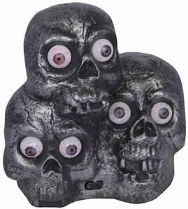 Halloween Deko Kaufen : totenk pfe horrordeko mit leuchtaugen und sound halloween ~ Michelbontemps.com Haus und Dekorationen