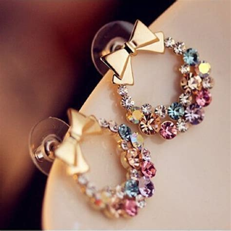 fashion designer jewelry colorful rhinestone