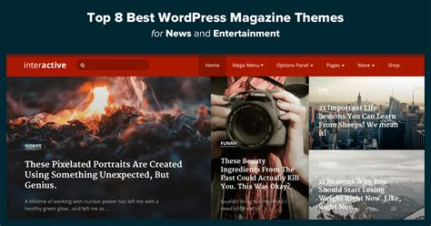 Magazine Themes Top 11 Best Magazine Themes For News Entertainment