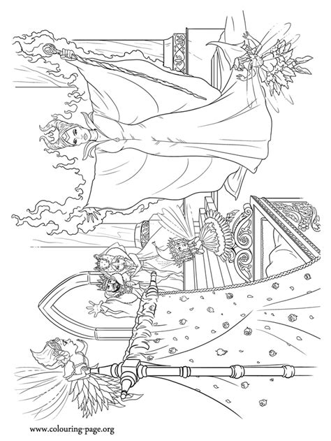maleficent maleficent summoning  powers coloring page