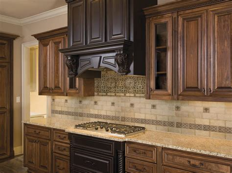 Kitchen & Dining Elegant Backsplashes With Wooden Cabinet
