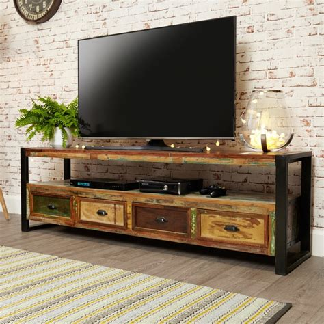 Tv Cabinet by Baumhaus Chic Open Widescreen Tv Cabinet Irf09c