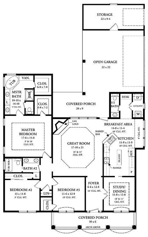 open floor home plans 2000 square cottage plans 2000 square open floor