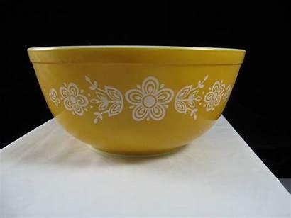 Mixing Butterfly Pyrex Bowls Bowl Golden