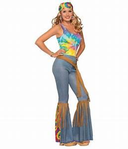 1960s Sexy Bell bottom Women Hippie Pants - Hippie costumes