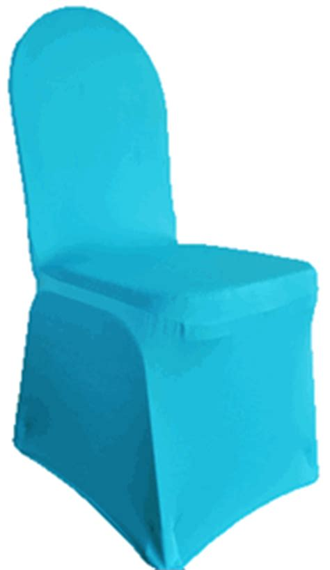 spandex banquet chair covers turquoise 62385 1pc pk