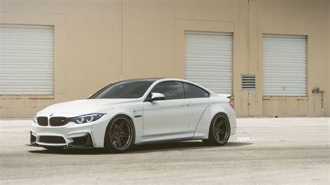 bmw m4 widebody alpine white bmw m4 widebody with adv05 wheels adv 1 wheels