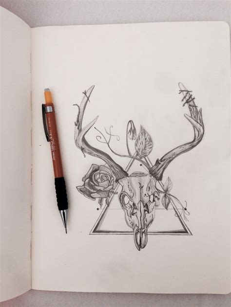 deer skull tattoos ideas  pinterest deer