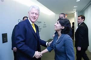 President Clinton And Neera Tanden