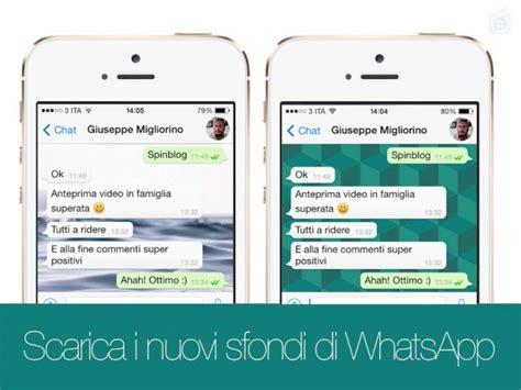 cambiare sfondo whatsapp chat su iphone
