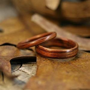 non metal wedding rings made by meg jewelry With wood and metal wedding rings