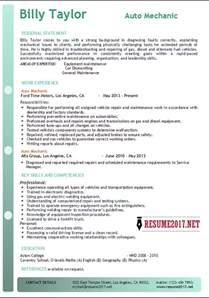 basic resume exles 2017 philippines auto mechanic resume resume format download pdf