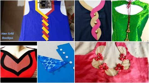 beautiful kurti neck design cutting  stitching simple