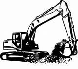 Excavator Coloring Digger Trackhoe Clipart Colouring Printable Gambar Happily Draw Cynthia sketch template