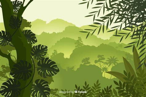 foto de Fundo natural com paisagem de floresta tropical Vetor Grátis