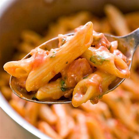pasta  creamy tomato sauce americas test kitchen